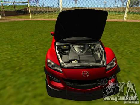 Mazda RX-8 R3 Tuned 2011 for GTA San Andreas inner view