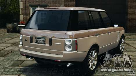 Range Rover Supercharged 2008 for GTA 4 back left view