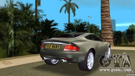 Aston Martin V12 Vanquish 6.0 i V12 48V for GTA Vice City back left view
