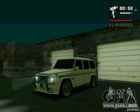 Mercedes Benz G500 Dub Edition for GTA San Andreas left view