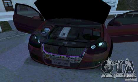 Volkswagen Golf V JDM Style for GTA San Andreas back left view
