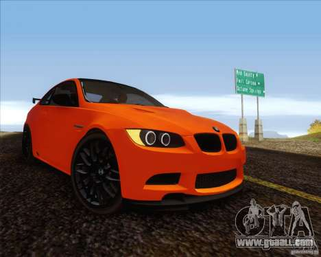 BMW M3 GT-S for GTA San Andreas back left view