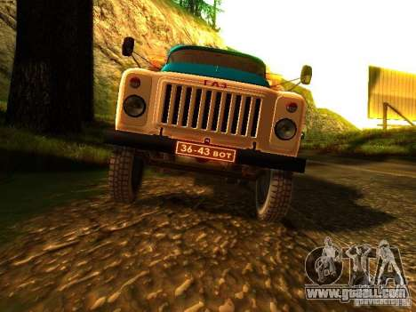 GAZ 53 for GTA San Andreas inner view