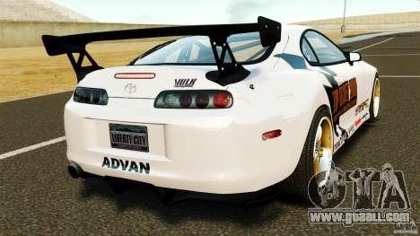 Toyota Supra Top Secret for GTA 4 back left view