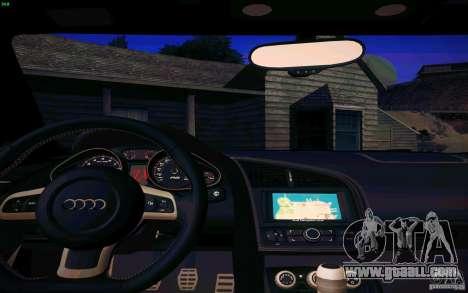 Audi R8 5.2 FSI Quattro for GTA San Andreas back view