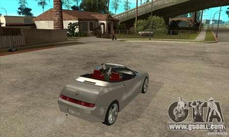 Alfa Romeo Spyder for GTA San Andreas right view