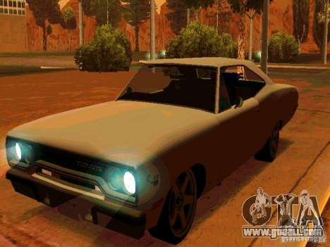 Plymouth Road Runner 426 HEMI 1970 for GTA San Andreas left view