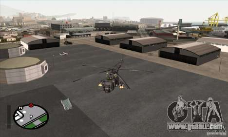 MI-8 Grey Camo for GTA San Andreas back left view