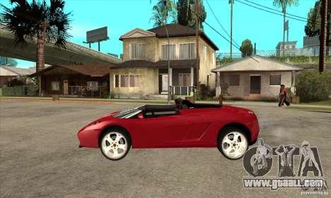 Lamborghini Concept S for GTA San Andreas left view