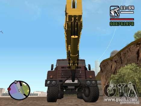 KrAZ-250 MKAT-40 for GTA San Andreas right view