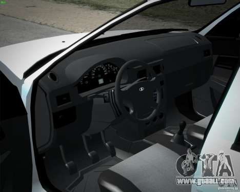 Lada Priora stock 2172 for GTA San Andreas back left view