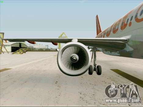 Airbus A319 Easyjet for GTA San Andreas side view