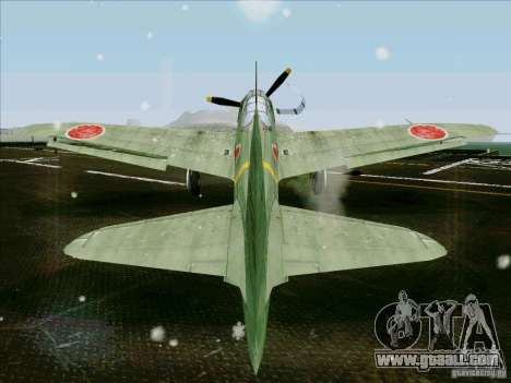 Japanese aircraft for GTA San Andreas back left view