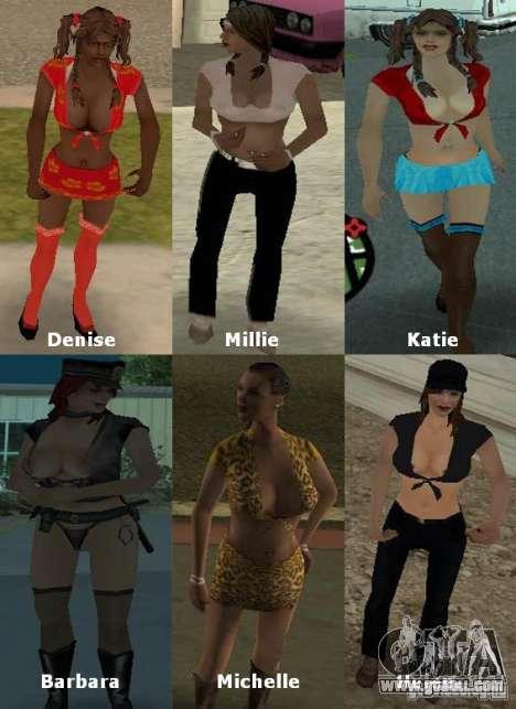 New Girlfriends Mod for GTA San Andreas