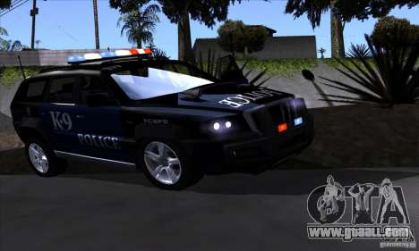 NFS Undercover Police SUV for GTA San Andreas left view
