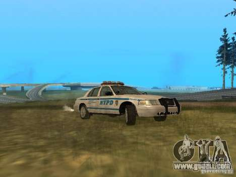 Ford Crown Victoria NYPD Police for GTA San Andreas back left view