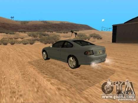 Vauxhall Monaro for GTA San Andreas left view