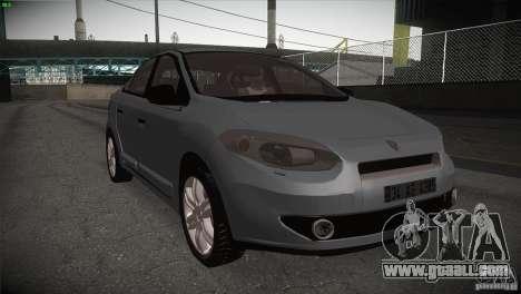 Renault Fluence for GTA San Andreas inner view