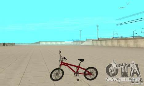 SA BMX for GTA San Andreas left view