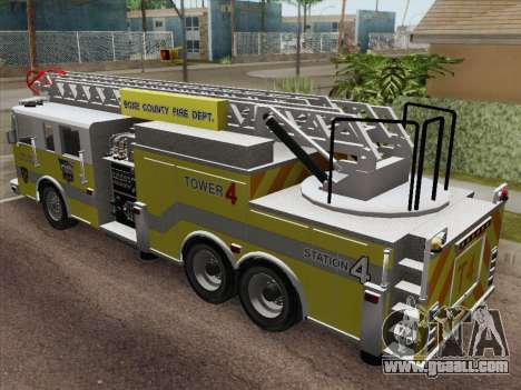 Pierce Arrow XT BCFD Tower Ladder 4 for GTA San Andreas back view