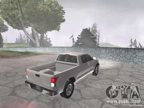 Toyota Tundra for GTA San Andreas back left view