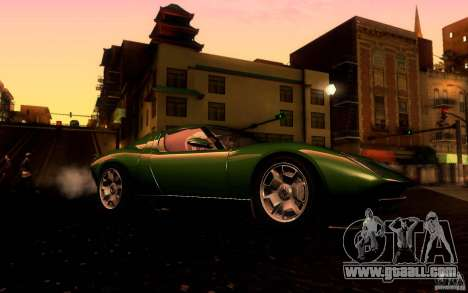 Lamborghini Miura Concept for GTA San Andreas back view
