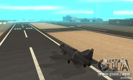Su-47 berkut Defolt for GTA San Andreas back left view