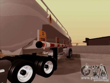 Trailer Kenworth T2000 for GTA San Andreas back view