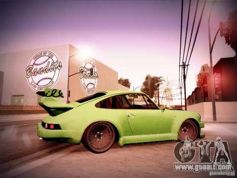 Porsche 911 Turbo RWB Pandora One for GTA San Andreas back view