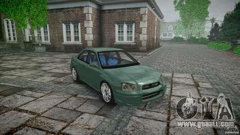 Subaru Impreza v2 for GTA 4 side view