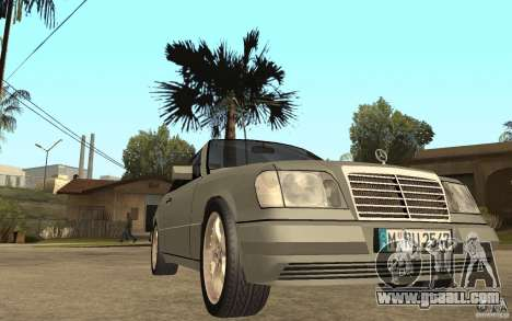 Mercedes-Benz E320 C124 Cabrio for GTA San Andreas back view