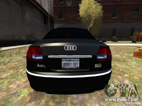 Audi A8L W12 for GTA 4 right view