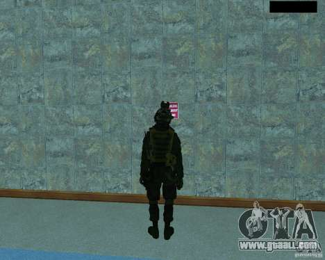 The third soldier from the skin Cod MW 2 for GTA San Andreas third screenshot