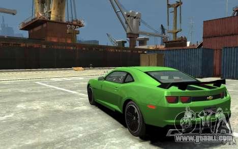 Chevrolet Camaro 2010 Synergy Edition v1.3 for GTA 4 back left view