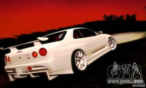 Nissan Skyline GT-R R34 for GTA San Andreas left view