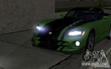 Dodge Viper a little tuning for GTA San Andreas back view