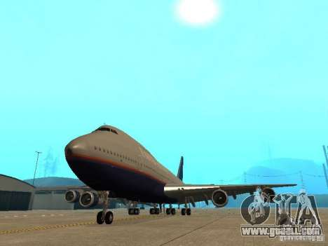 Boeing 747-100 United Airlines for GTA San Andreas back view