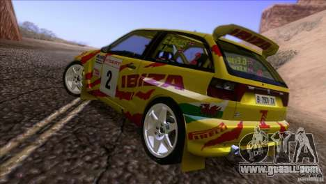 Seat Ibiza Rally for GTA San Andreas bottom view