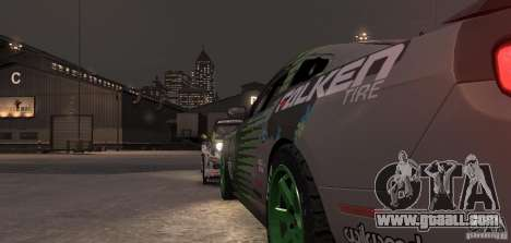 Ford Mustang Monster Energy 2012 for GTA 4 upper view