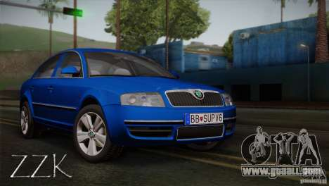 Skoda Superb 2006 for GTA San Andreas right view