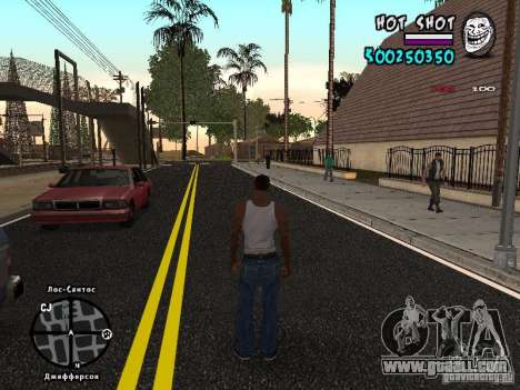 HUD by Hot Shot for GTA San Andreas second screenshot