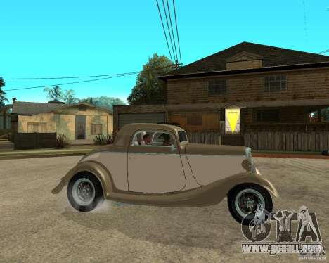 Ford 1934 Coupe v2 for GTA San Andreas right view