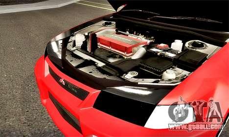 Mitsubishi Lancer Evolution 6 for GTA San Andreas inner view