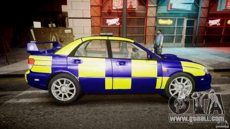 Subaru Impreza WRX Police [ELS] for GTA 4 inner view