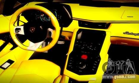 Lamborghini Aventador LP 700-4 for GTA San Andreas upper view