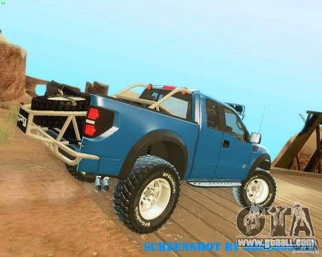 Ford F150 2011 SVT RapTor for GTA San Andreas bottom view