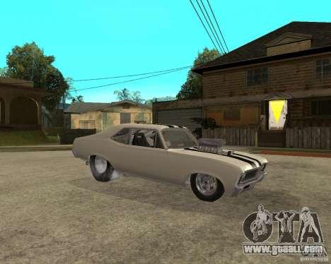 1969 Chevrolet Nova ProStreet Dragger for GTA San Andreas right view