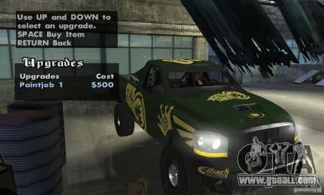 Dodge Power Wagon Paintjobs Pack 1 for GTA San Andreas back view