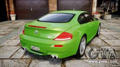 BMW M6 2010 v1.0 for GTA 4 back left view
