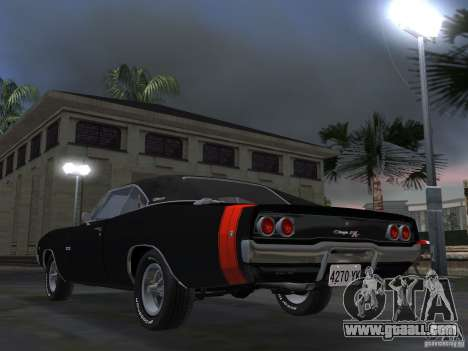 Dodge Charger 426 R/T 1968 v2.0 for GTA Vice City back left view